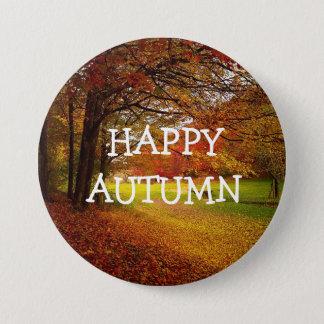 Badge Rond 7,6 Cm L'automne heureux d'automne colore le bouton