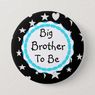 Badge Rond 7,6 Cm Le frère à être des étoiles, des lunes et coeur se