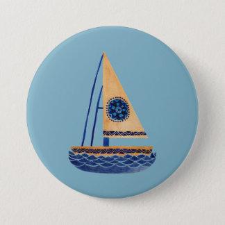 Badge Rond 7,6 Cm Le voilier tribal