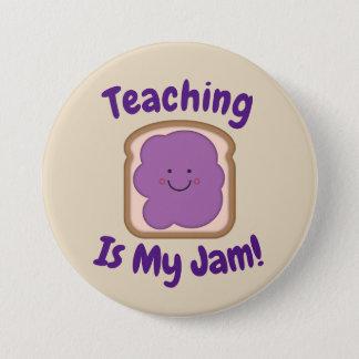 Badge Rond 7,6 Cm L'enseignement est mon bouton de confiture