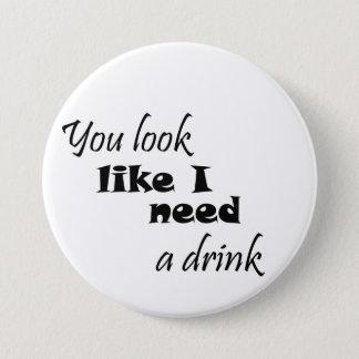 Badge Rond 7,6 Cm Les cadeaux potables drôles de vin de cadeau