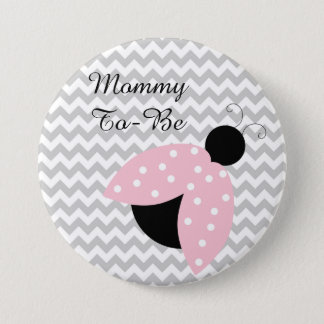 "Badge Rond 7,6 Cm ""Maman à être"" bouton rose de baby shower de"