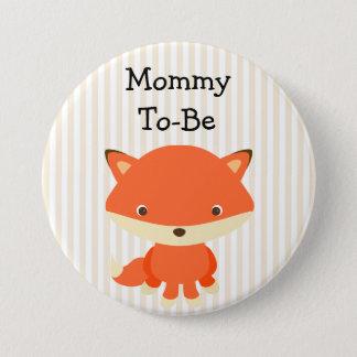 Badge Rond 7,6 Cm Maman à être thème de régions boisées de bouton