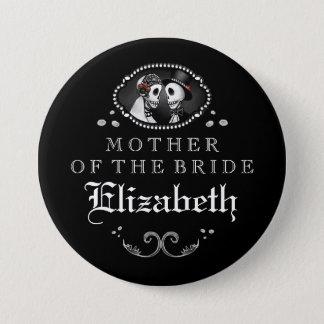 Badge Rond 7,6 Cm Mère blanche noire de mariage de Halloween de