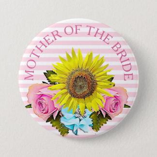 Badge Rond 7,6 Cm Mère du bouton nuptiale de douche de jeune mariée