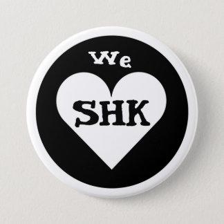 Badge Rond 7,6 Cm Nous coeur SHK