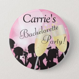 Badge Rond 7,6 Cm Nuit assez rose de filles de diva de Bachelorette