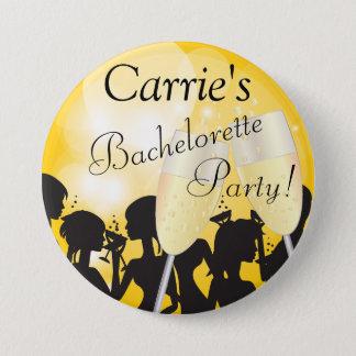 Badge Rond 7,6 Cm Nuit jaune de filles de diva de Bachelorette