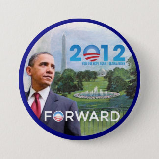 Badge Rond 7,6 Cm Obama à Washington 2012
