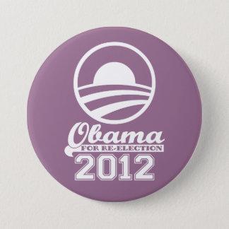 Badge Rond 7,6 Cm OBAMA pour le bouton 2012 (lilas) de campagne de