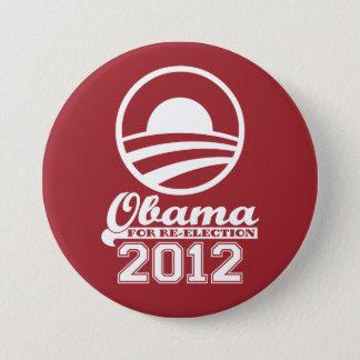 Badge Rond 7,6 Cm OBAMA pour le bouton 2012 (rouge) de campagne de