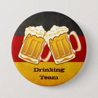 Badge Rond 7,6 Cm Partie de bière d'Oktoberfest - équipe potable de