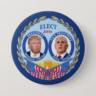 Badge Rond 7,6 Cm Penny de Donald Trump et de Mike