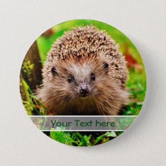 Badge Rond 7,6 Cm Petit hérisson personnalisé dans la forêt