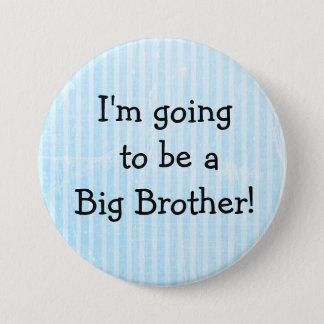 Badge Rond 7,6 Cm 'Pin bleu de faire-part de naissance de bouton de