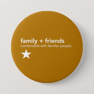 Badge Rond 7,6 Cm Pin jaune de communication - famille et amis