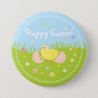 Badge Rond 7,6 Cm Poussin mignon Joyeuses Pâques de bébé