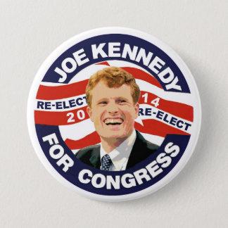 Badge Rond 7,6 Cm Réélisez Joe Kennedy 2014