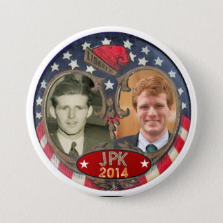 Badge Rond 7,6 Cm Réélisez Joe Kennedy en 2014