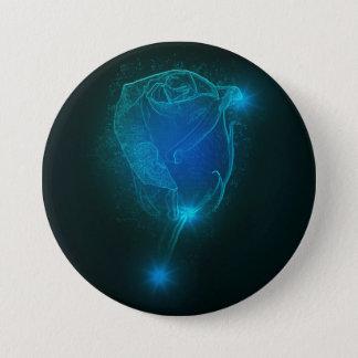Badge Rond 7,6 Cm Rose de bleu