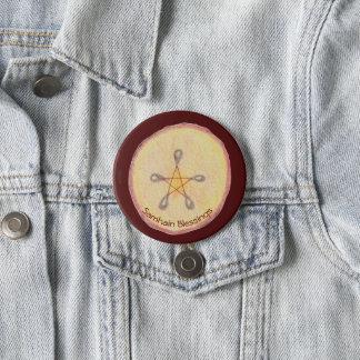 Badge Rond 7,6 Cm Samhain Apple découpent le païen en tranches de