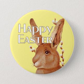 Badge Rond 7,6 Cm Saule mignon Joyeuses Pâques de lapin et de chat