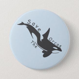 Badge Rond 7,6 Cm Sauvez les orques