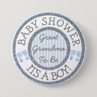 Badge Rond 7,6 Cm Son un garçon, grande grand-maman à être bouton de