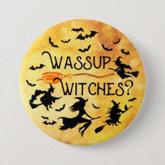 Badge Rond 7,6 Cm Sorcières de Wassup ? Lune de récolte Halloween