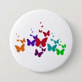 Badge Rond 7,6 Cm Spectre de papillons