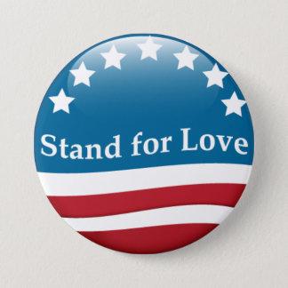 Badge Rond 7,6 Cm Support des Etats-Unis pour le bouton d'amour