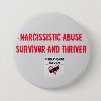 Badge Rond 7,6 Cm Survivant d'abus et bouton narcissiques de Thriver