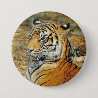 Badge Rond 7,6 Cm Tigre