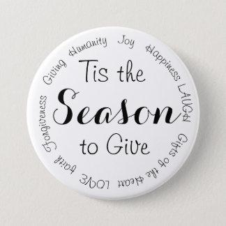Badge Rond 7,6 Cm Tis le bouton inspiré de Noël de saison