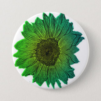 Badge Rond 7,6 Cm Tournesol