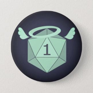 Badge Rond 7,6 Cm Un bouton D20 naturel