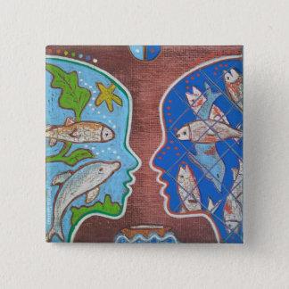 Badge vegan fish