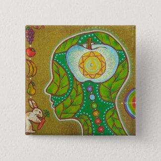 Badge vegan head chakras