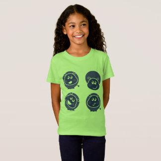 Badine l'hippopotame heureux vert de T-shirt