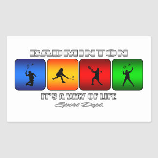 Badminton frais c'est un mode de vie sticker rectangulaire