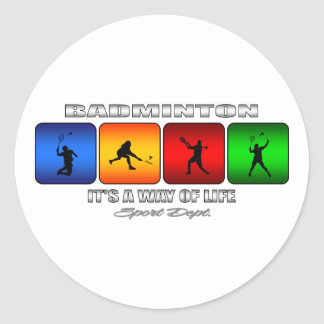 Badminton frais c'est un mode de vie sticker rond