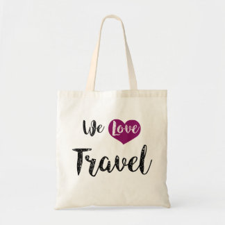 "Bag, « We love Travel "" Sac En Toile Budget"