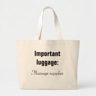 Bagage important : le massage fournit le sac