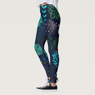Bagout abstrait et conception de fleur leggings