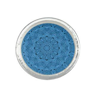 Bague Anneaux vintages bleus décoratifs de coutume de