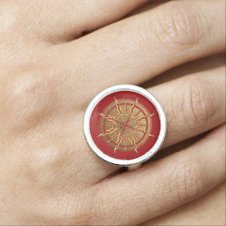 Bague Avec Photo Le tribal spirituel du premier de nation anneau