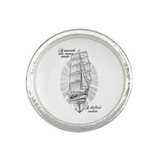 Bague Avec Photo Tatouage de marins de bateau