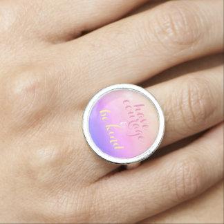 Bague Ayez le courage et soyez anneau inspiré aimable de