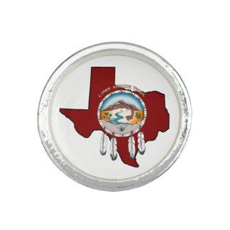Bague Bouclier tribal/anneau rond du Texas