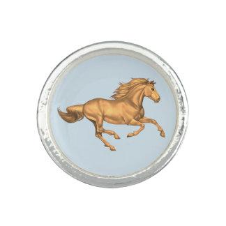 Bagues Avec Photo Anneau de cheval, anneau d'argent sterling avec le